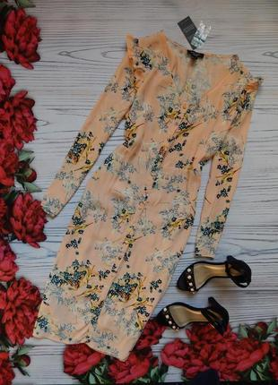 🌿нежный, красивый платье,  сарафан на пуговицах от new look. р...