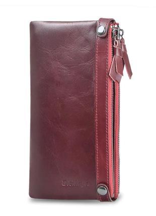 Кошелек кожаный женский. портмоне бумажник из натуральной кожи...