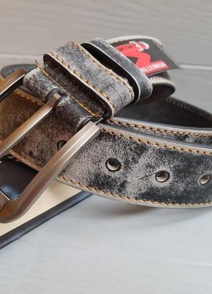 Ремень кожаный millenium 40 black-grey