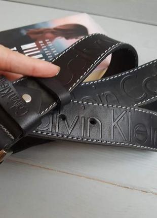 Ремень кожаный calvin klein 40 black