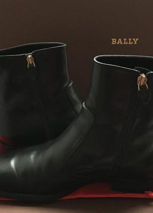 Мужские теплые ботинки  полусапоги  на натуральном меху Bally !