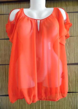 Блуза из иск.шелка, новая george размер 14(42) – идет на 50-52.