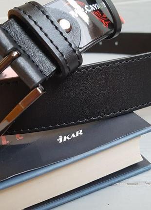 No.40. кожаный ремень mr. cayman 40 black строчка
