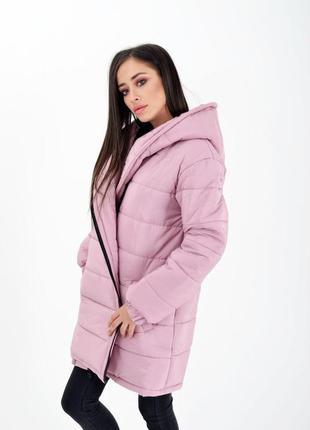 Длинная куртка-одеяло пальто