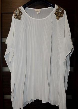 Необычная блуза плиссе