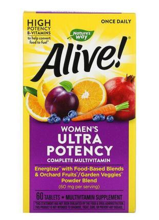 Alive! ultra potency, полный комплекс высокоэффективных мульти...