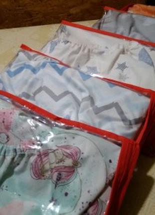 Простинь на резинке в детску кроватку,на матрас размером 120*60
