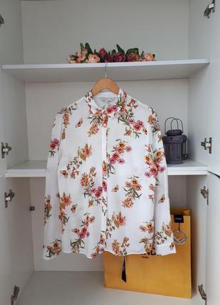 Блузка цветочный принт с вискозы f&f