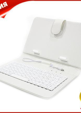 ☚Чехол с клавиатурой Lesko для планшета 7 дюймов White micro u...