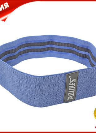 Резинка для фитнеса тканевая AOLIKES RB-3603 Blue L эластичнна...