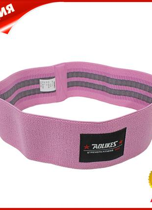 Резинка для фитнеса тканевая AOLIKES RB-3603 Pink L эластичнна...