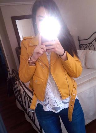 Zara косуха кожанка, кожанная куртка