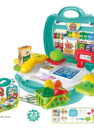 """Игровой набор """"Супермаркет"""" в чемоданчике Bowa Разноцвет"""