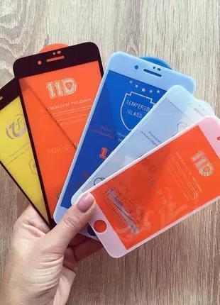 Защитное стекло на iPhone 5D/ 6S 7 Plus 8+/9D/10D/11D/Pro XR Xs M