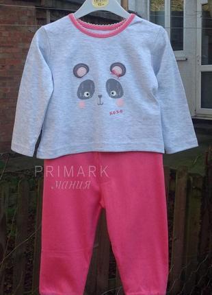 Трикотажная пижама для девочки (86, 92 см) primark
