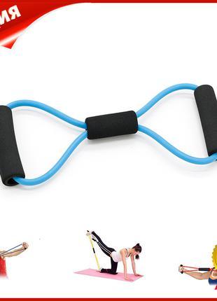 Эспандер трубчатый восьмерка Dobetters DBT-YJ06 Blue резиновый...