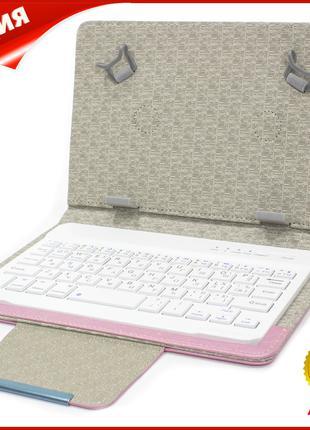 """ϞЧехол Lesko 7"""" + kayboard WL Pink для планшета электронных кн..."""