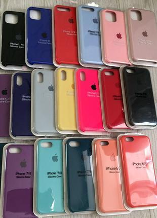 Чехол на телефон/Silicone case/Кейс 6 6s 7 8 Plus X/Xr/Xs Max/11P