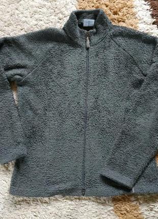 Фирменная меховая кофта без капюшона