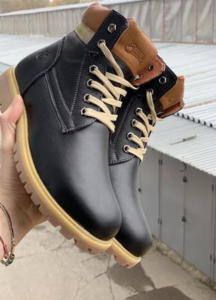 Подростковые ботинки {натуральная кожа, зима}