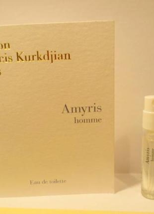 Amyris Homme Maison Francis Kurkdjian_Оригинал EDP_2 мл затест