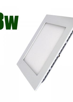 Светодиодный светильник квадрат LEDEX 8W 4000К 640 lm