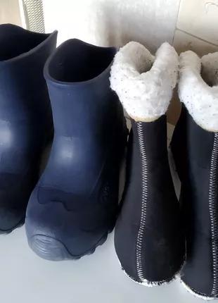 Резиновые сапоги сноубутсы Quechua Decathlon р. 34-35 валенки