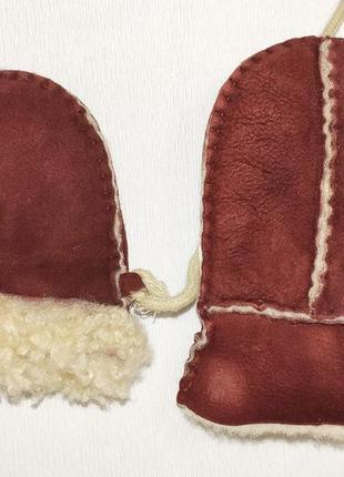 Рукавицы рукавички детские варежки краги зимние теплые натурал...