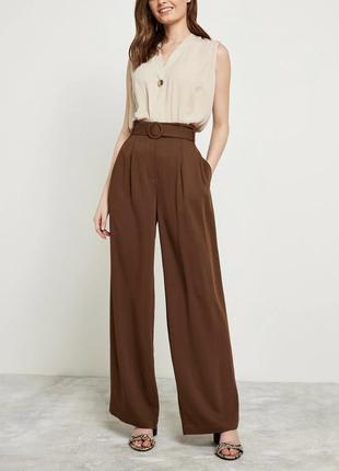 В наличии - шоколадные брюки-палаццо на высокой посадке *f&f* ...
