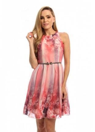 Потрясающее😍 воздушное платье с органзы цветочным акварельным ...