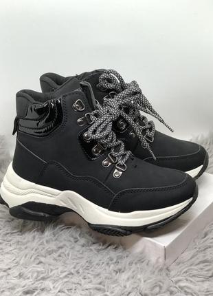 Спортивные чёрные кроссовки, ботинки