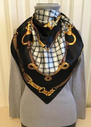 Шикарный шелковый платок  испания мадрид