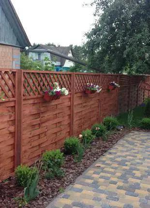 Забор деревянный ( Паркан , огорожа , дерев'яний )