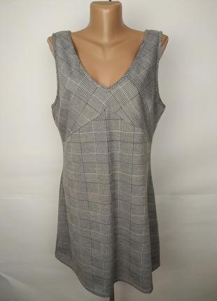 Платье новое трикотажное в клетку стильное uk 16/44/xl