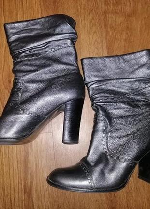 ✨✨✨стильные серебристые женские кожаные сапожки, полусапожки, ...
