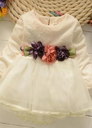 Платье детское Satin белое (Код товара: 2464)