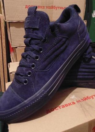 Кроссовки ботинки полностью из высочайшего качества замши conv...