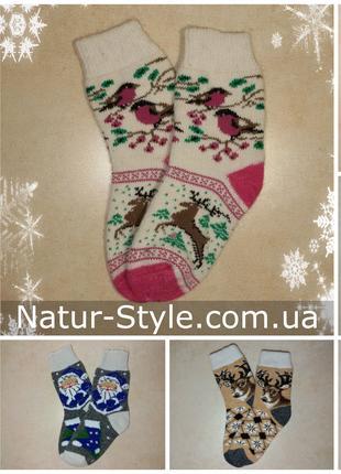 Женские новогодние носки Теплые шерстяные носочки из Ангоры