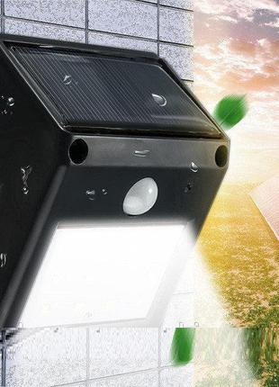 Настенный фонарик с датчиком движения на солнечной панели 12 д...