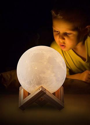 Светильник детский Луна. Ночник в детскую 3D Moon Light