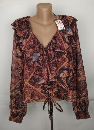 Блуза новая красивая в орнамент primark uk 16/44/xl
