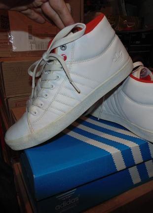 Кроссовки кеды adidas кожа оригинал без дефектов в хорошем сос...