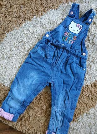Летний джинсовый комбезик на малышку 12-18 мес