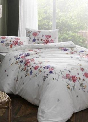 Полуторное постельное белье tac madonna pink ранфорс