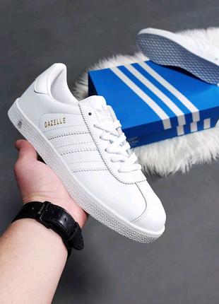 Женские кроссовки Adidas Gazelle белые