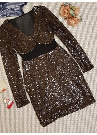 Платье в паетках сетка, nlyone