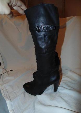 Сапоги ботфорты ботинки с утеплением baldaccini оригинал кожа