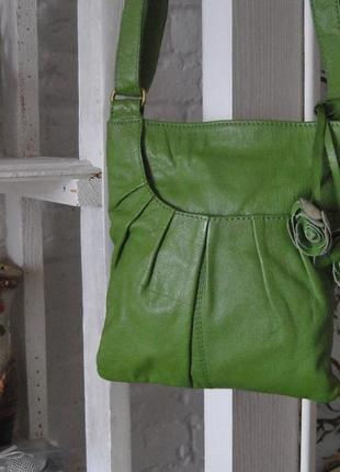 Кожаная сумка кроссбоди next / шкіряна сумка