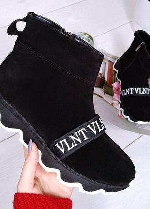 🚀топовые ботинки сапоги в стиле валентино vlntvl натуральная з...