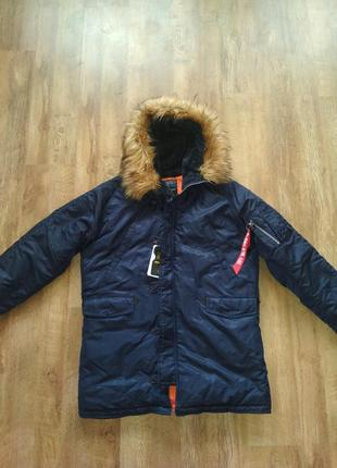 Парка n3b slim-fit navy аляска куртка alpha